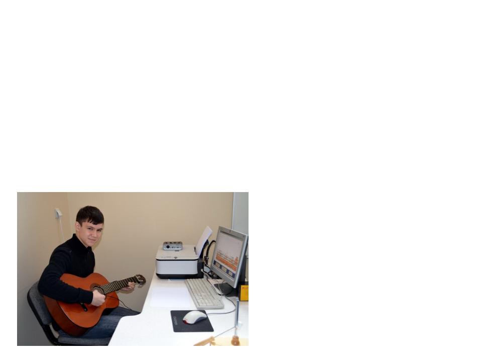 Для получения спектрограмм частот звучащей струны мы использовали бесплатный...