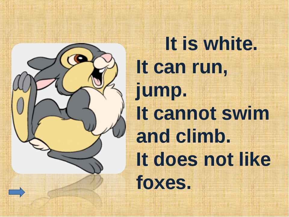 It is white. It can run, jump. It cannot swim and climb. It does not like fo...