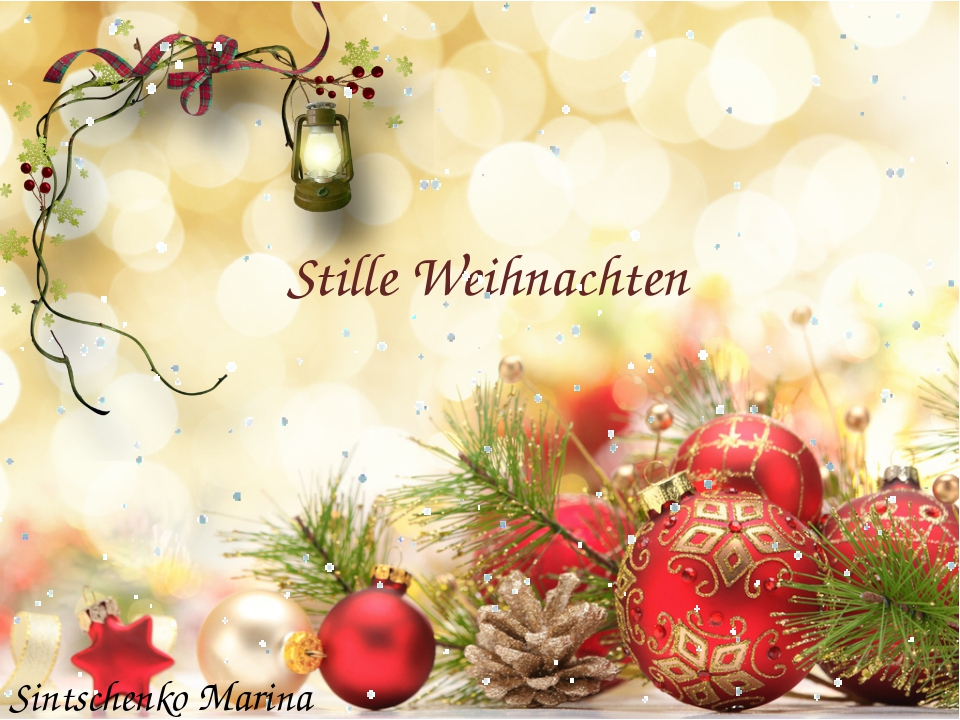 Stille Weihnachten Sintschenko Marina