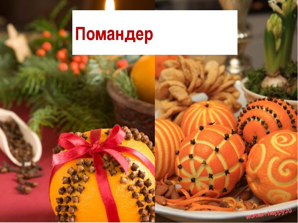 Pomander Новогодние украшения для дома своими руками. Душистая зимняя компози...