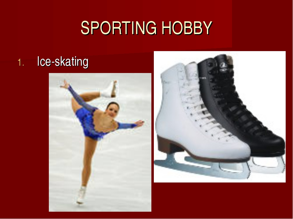 SPORTING HOBBY Ice-skating