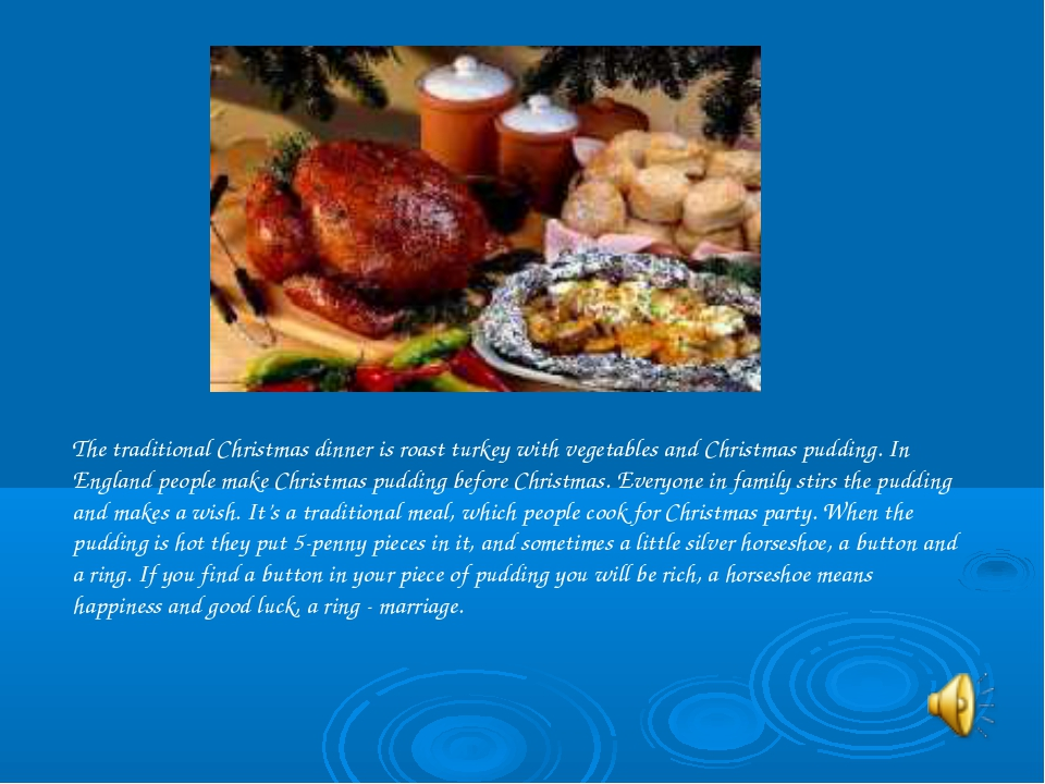 The traditional Christmas dinner is roast turkey with vegetables and Christma...