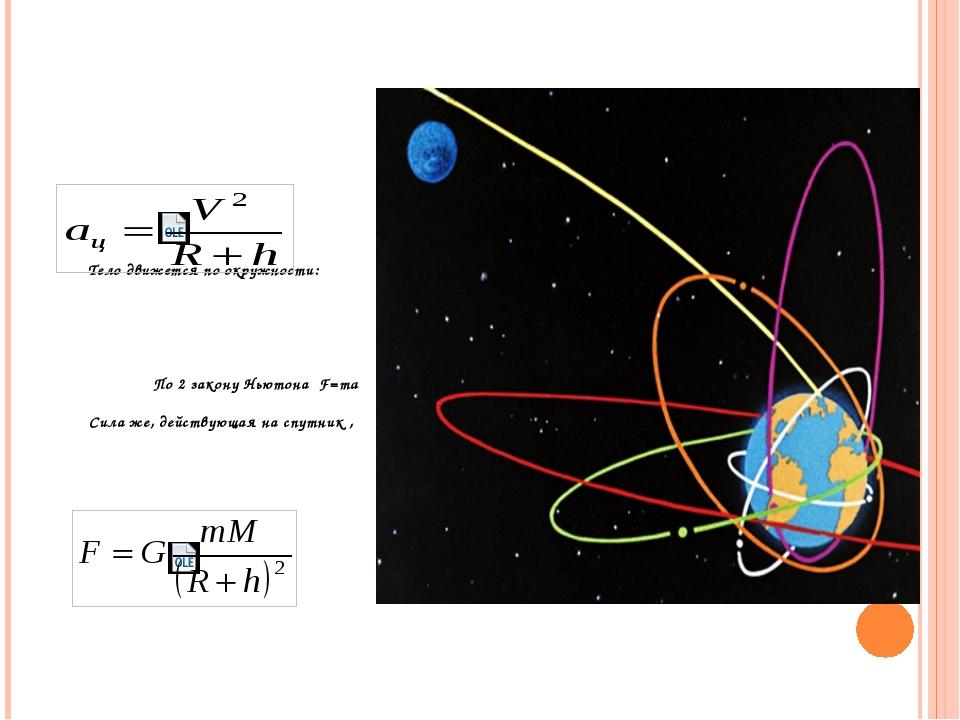 Тело движется по окружности: По 2 закону Ньютона F=ma Сила же, действующая н...
