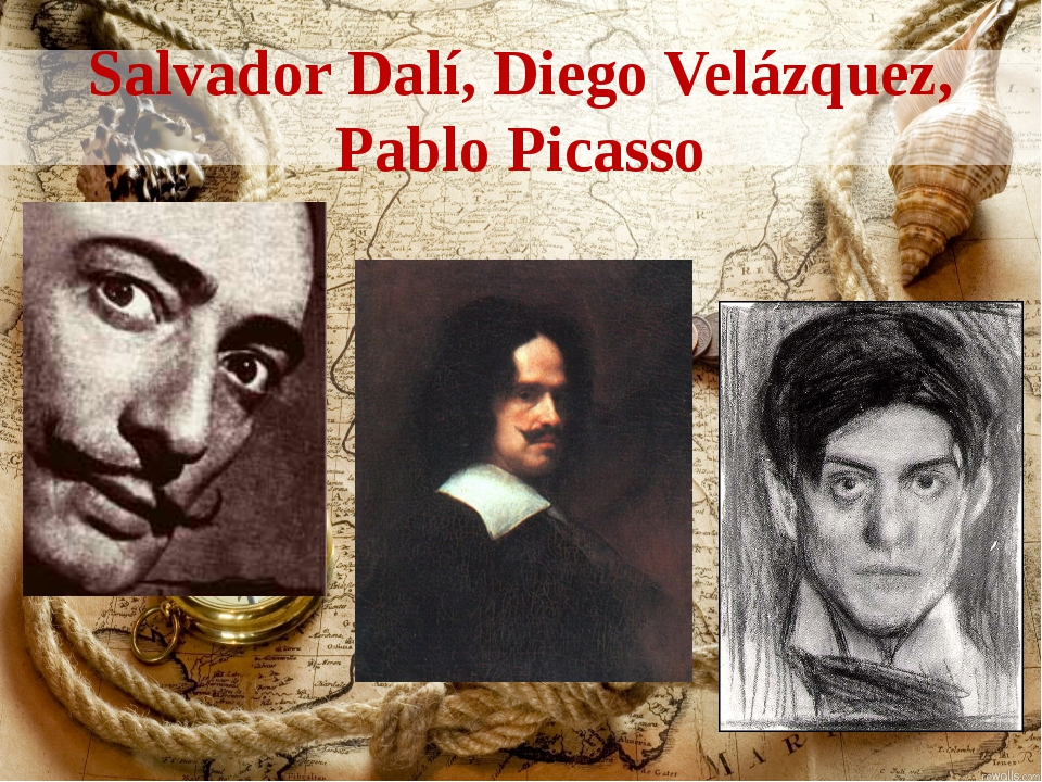 Salvador Dalí, Diego Velázquez, Pablo Picasso