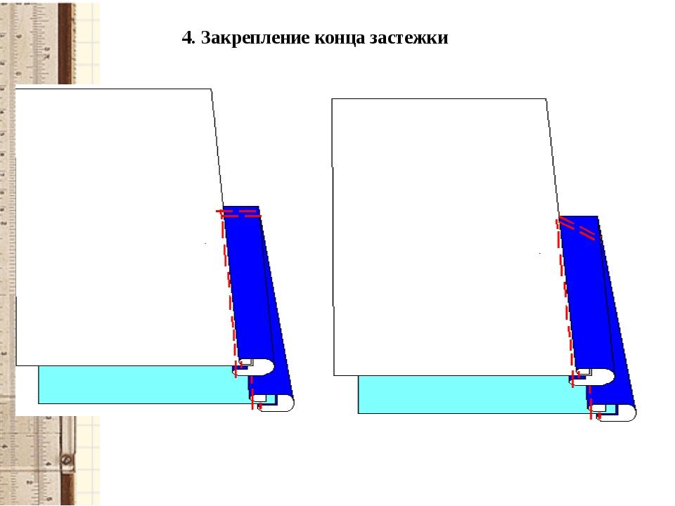 4. Закрепление конца застежки