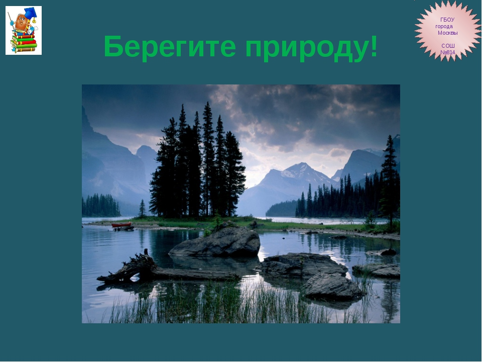 Берегите природу! ГБОУ города Москвы СОШ №814