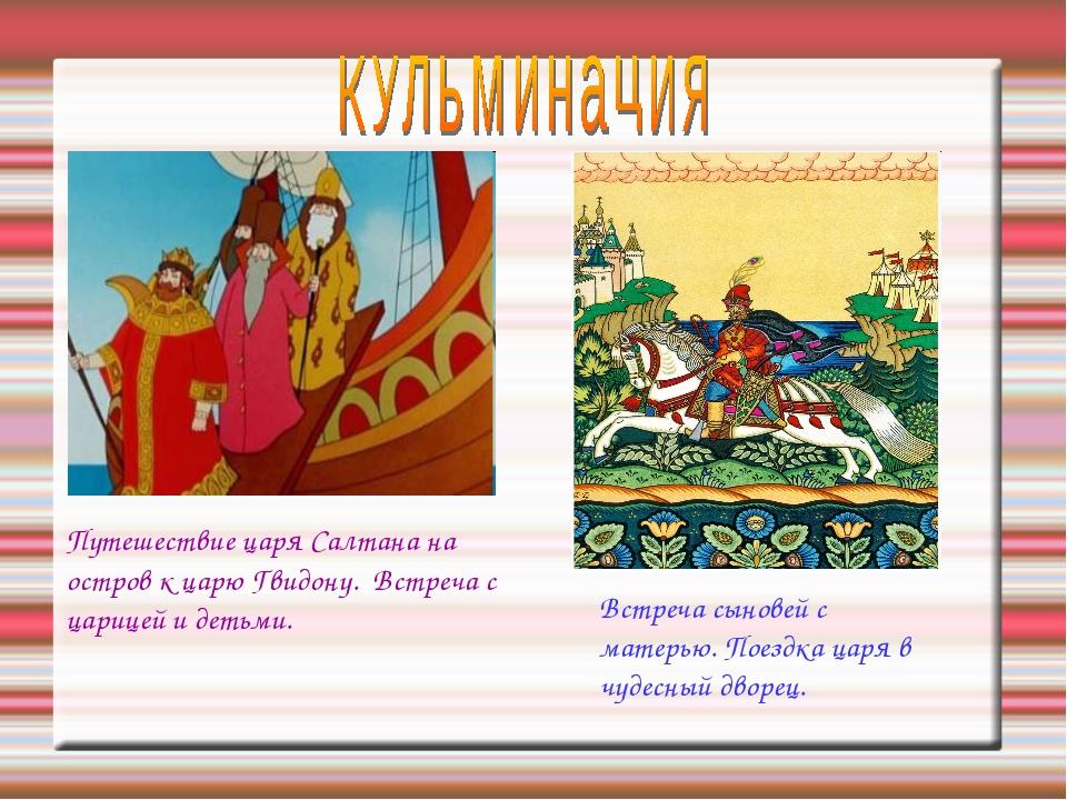 Путешествие царя Салтана на остров к царю Гвидону. Встреча с царицей и детьми...