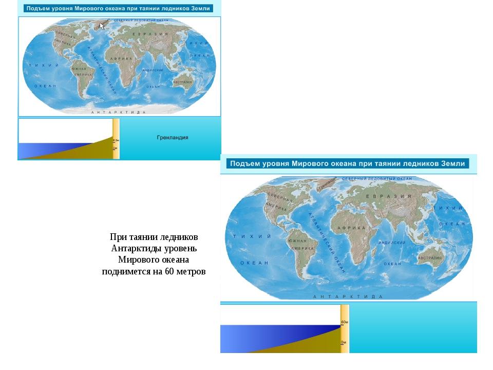 При таянии ледников Антарктиды уровень Мирового океана поднимется на 60 метров