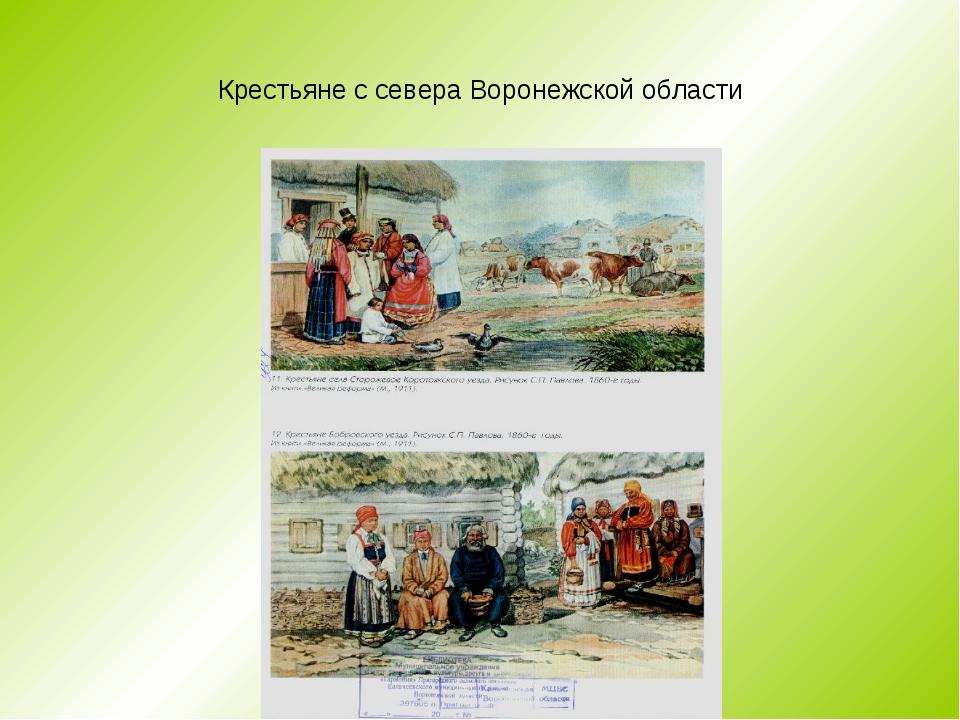 Крестьяне с севера Воронежской области