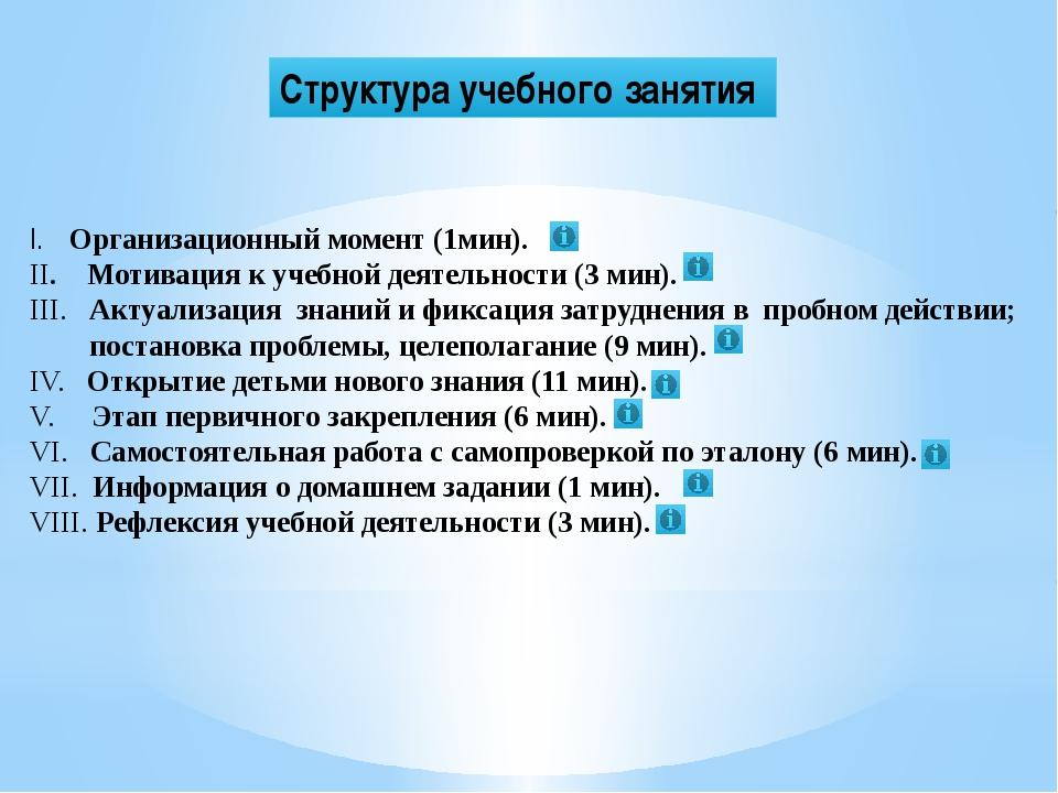 VIII этап. Рефлексия учебной деятельности (3 мин.) Цель: организовать рефлекс...