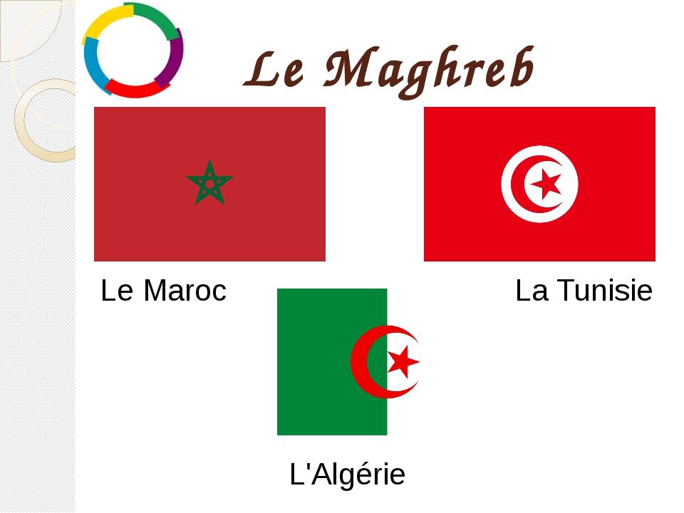 Le Maghreb Le Maroc La Tunisie L'Algérie