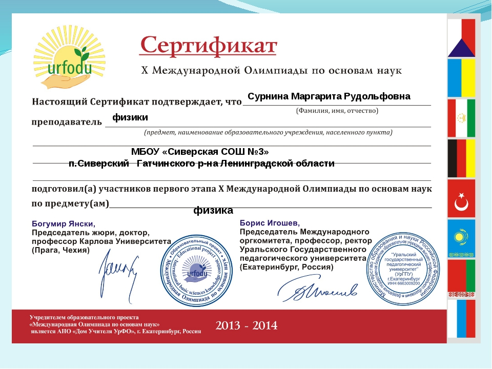 Сурнина Маргарита Рудольфовна   физики МБОУ «Сиверская СОШ №3» п.Си...