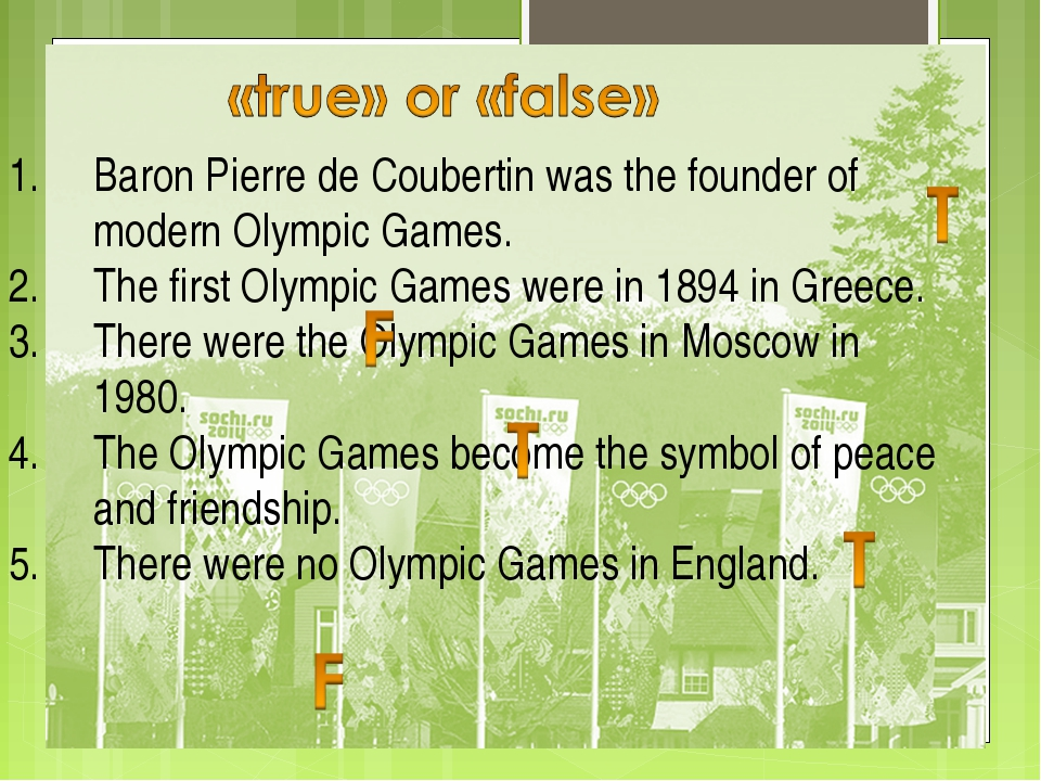 Baron Pierre de Coubertin was the founder of modern Olympic Games. The first