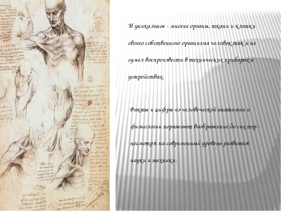 И уникальное - многие органы, ткани и клетки своего собственного организма че...