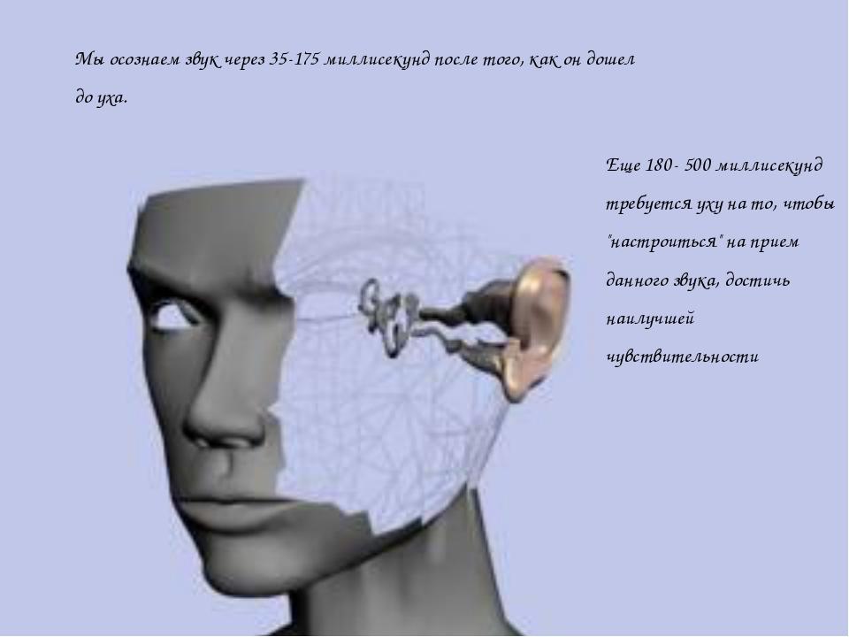 """Еще 180- 500 миллисекунд требуется уху на то, чтобы """"настроиться"""" на прием да..."""
