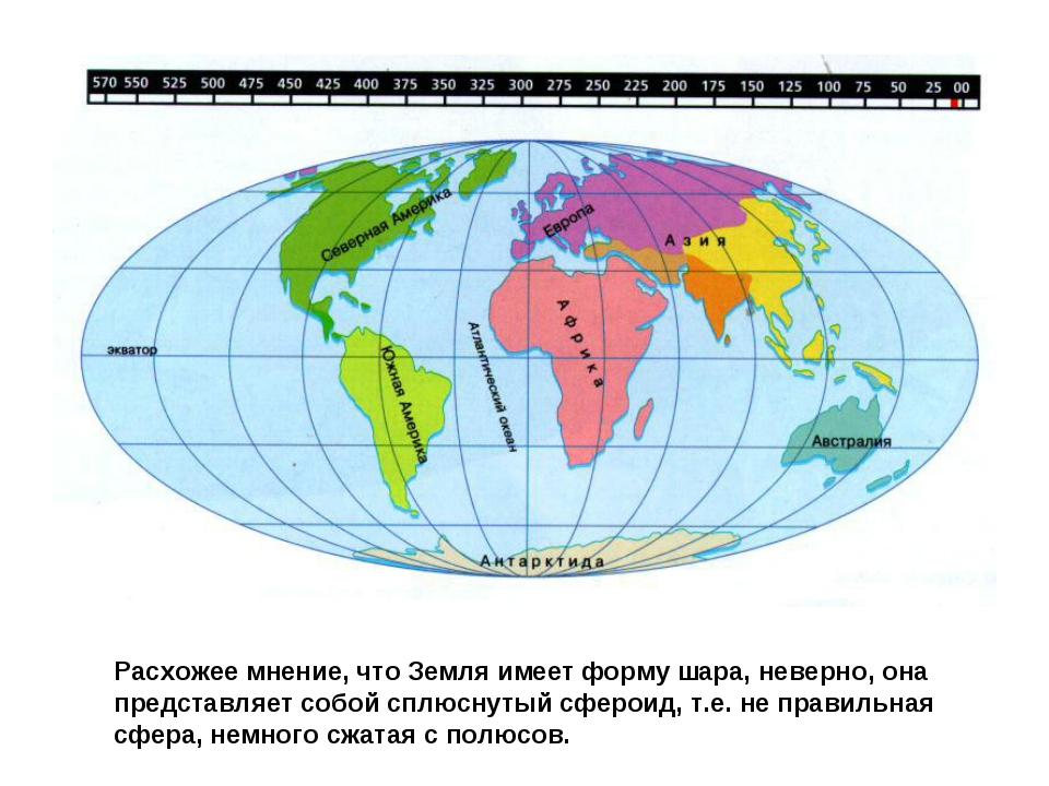 Расхожее мнение, что Земля имеет форму шара, неверно, она представляет собой...