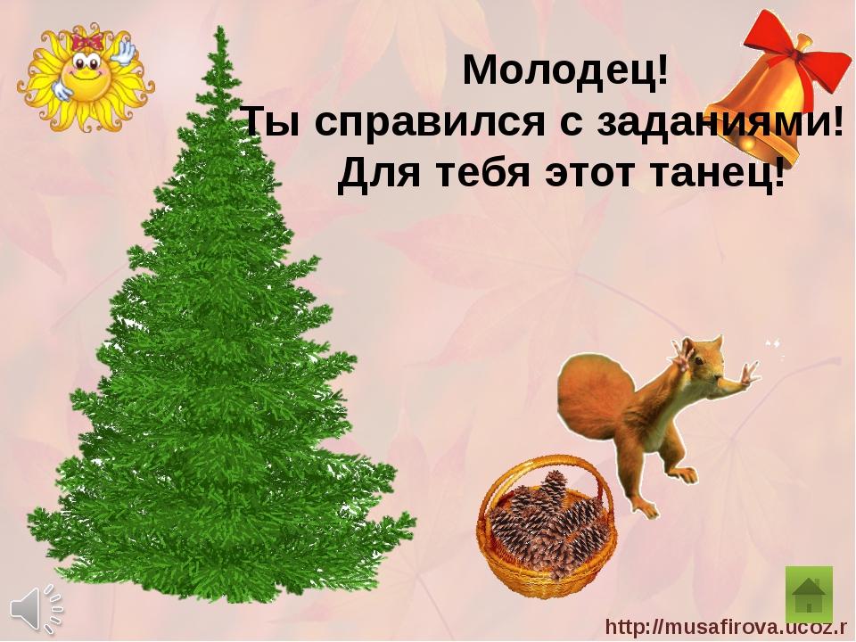 Молодец! Ты справился с заданиями! Для тебя этот танец! http://musafirova.uc...