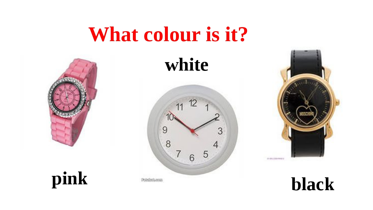 What colour is it? pink white black