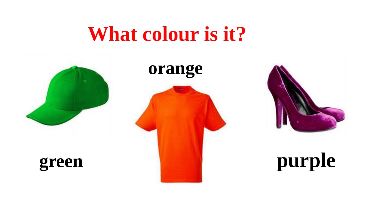 What colour is it? green orange purple