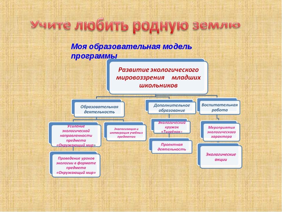 Моя образовательная модель программы