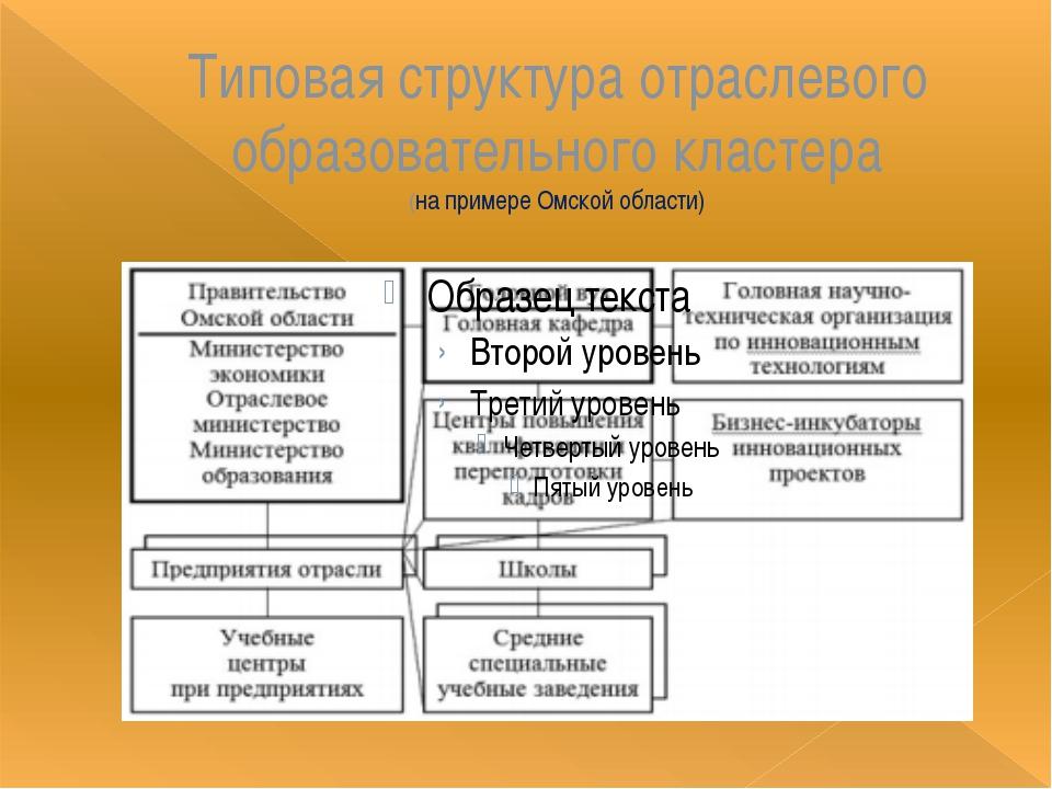 Типовая структура отраслевого образовательного кластера (на примере Омской об...