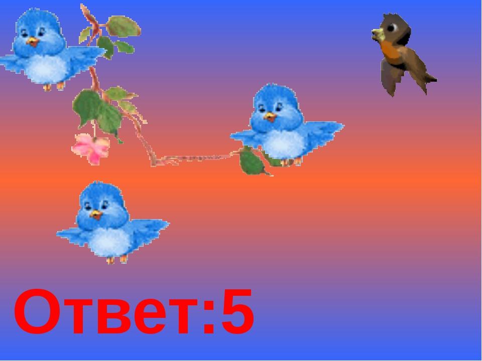 Ответ:5 птичек