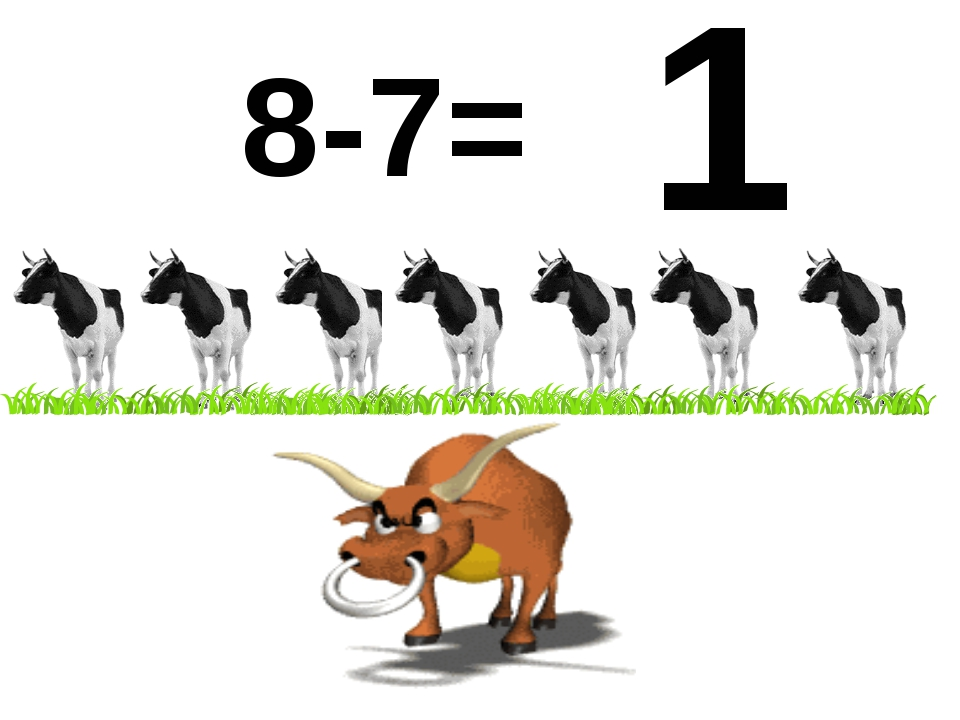 8-7= 1