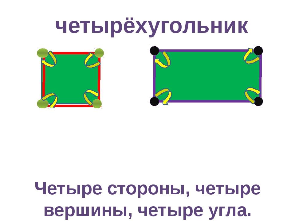 Четыре стороны, четыре вершины, четыре угла. четырёхугольник