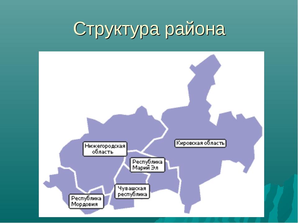 Структура района