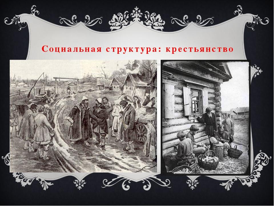 Социальная структура: крестьянство
