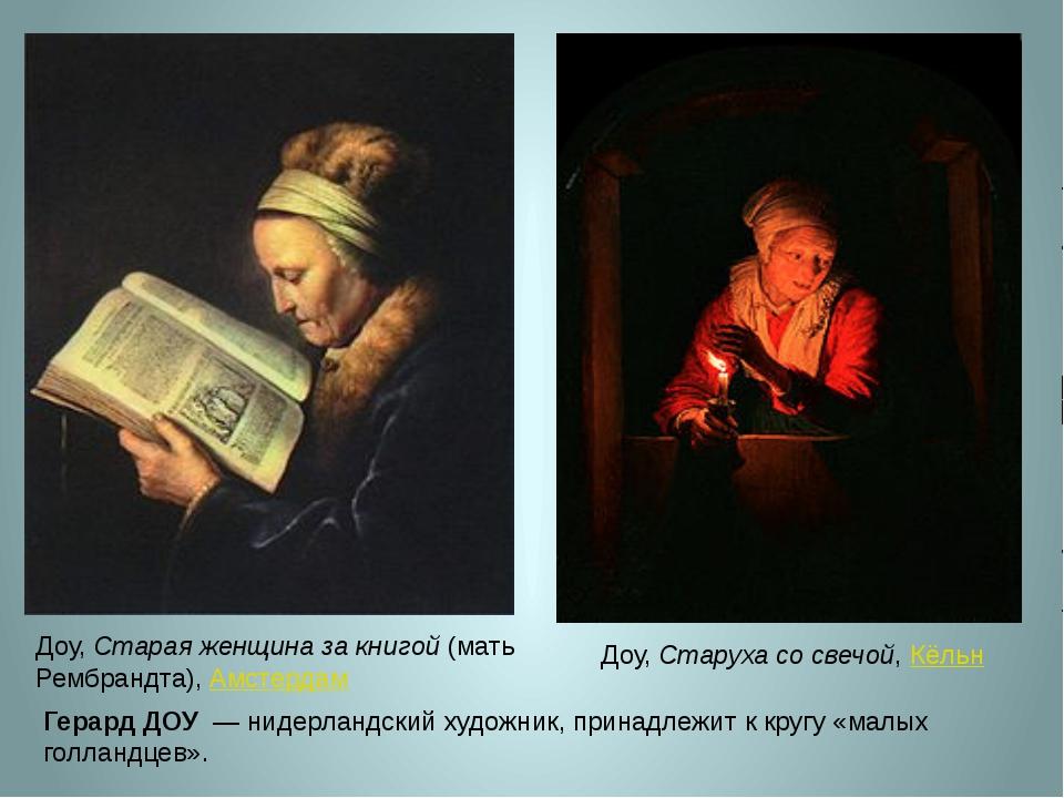 Доу, Старая женщина за книгой (мать Рембрандта), Амстердам Доу, Старуха со св...