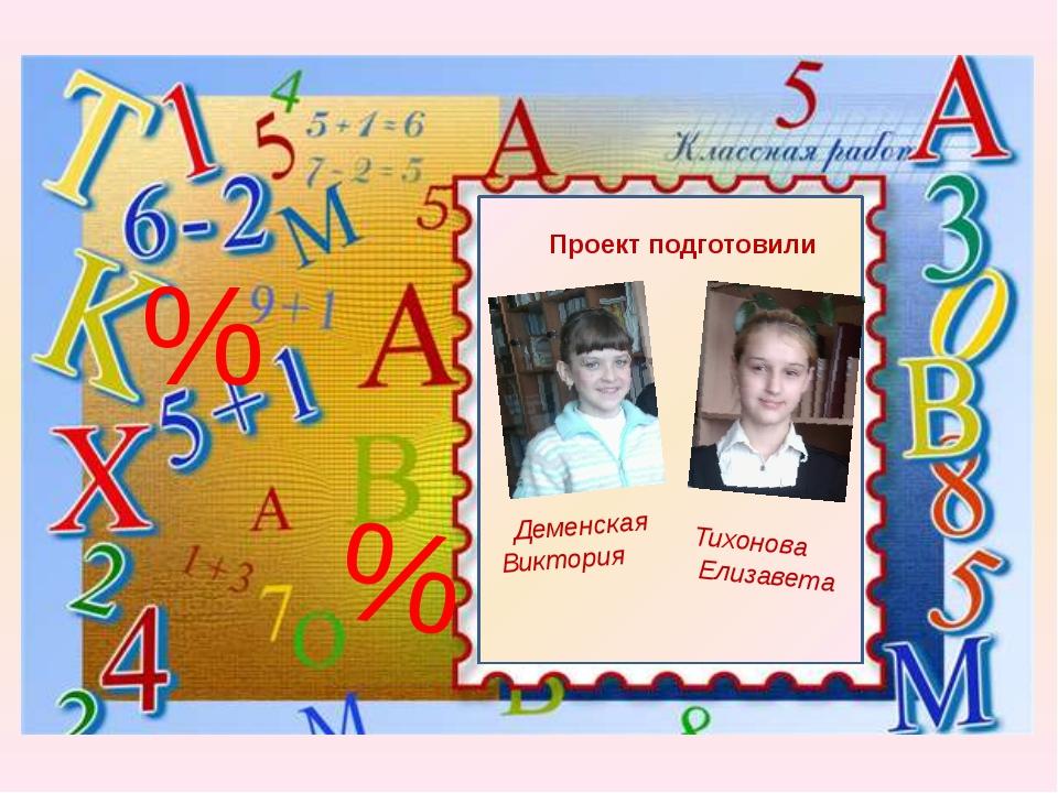 % % Проект подготовили Деменская Виктория Тихонова Елизавета
