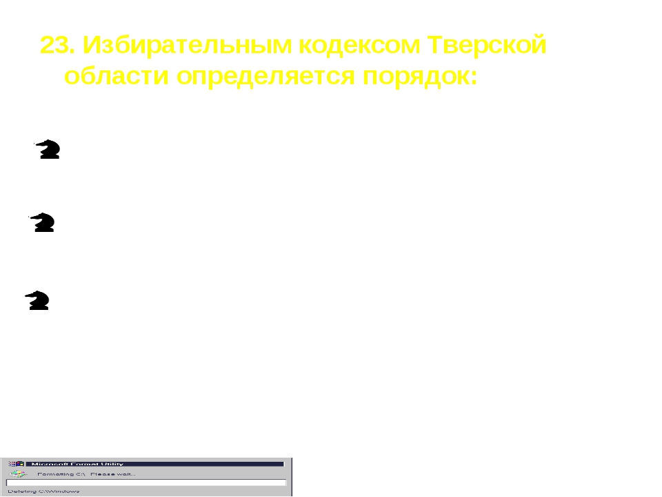 23. Избирательным кодексом Тверской области определяется порядок: только пров...