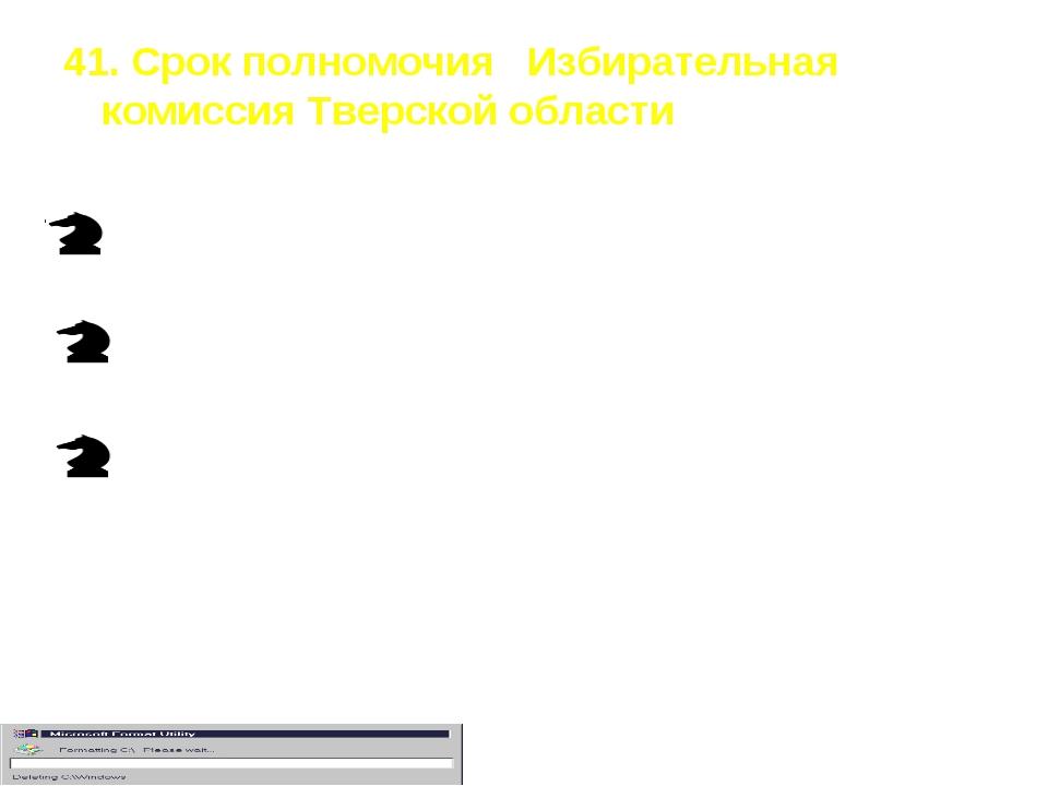 41. Срок полномочия Избирательная комиссия Тверской области Четыре года Пять...