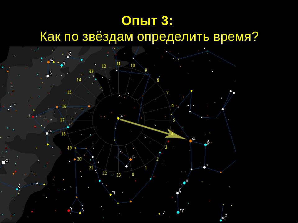 Опыт 3: Как по звёздам определить время?