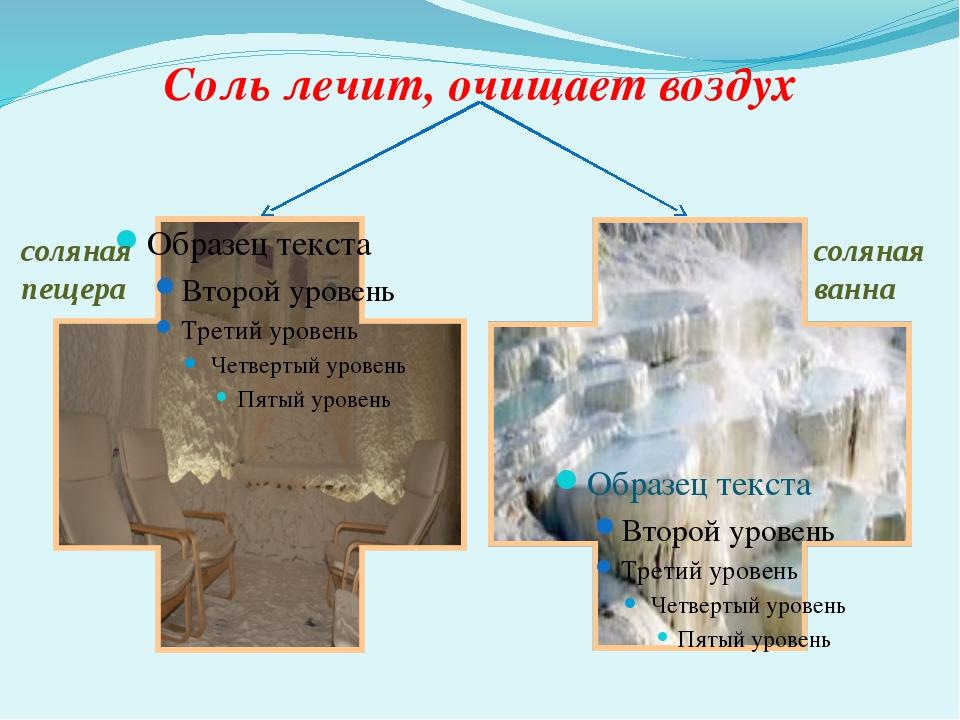 Соль лечит, очищает воздух соляная пещера соляная ванна