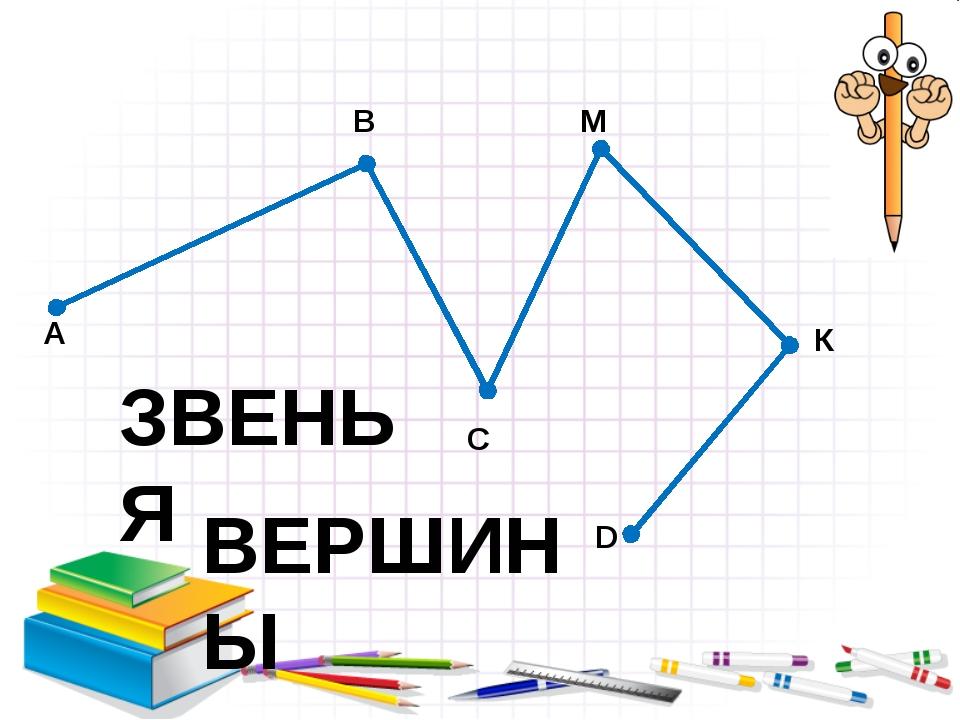 А В С М К D ЗВЕНЬЯ ВЕРШИНЫ