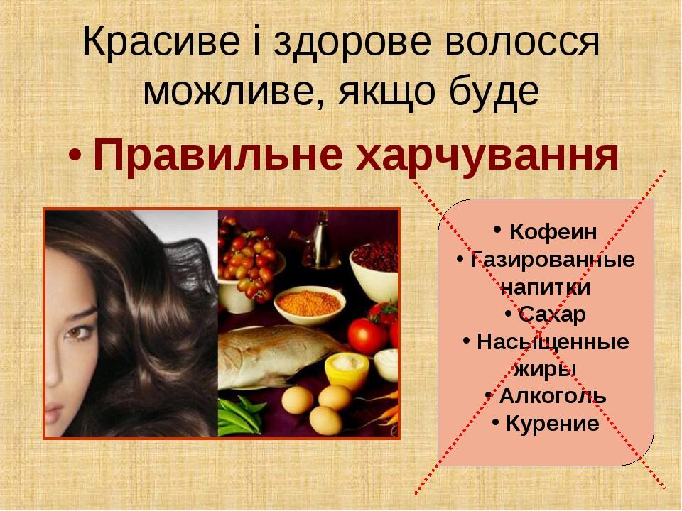 Правильне харчування Кофеин Газированные напитки Сахар Насыщенные жиры Алкого...