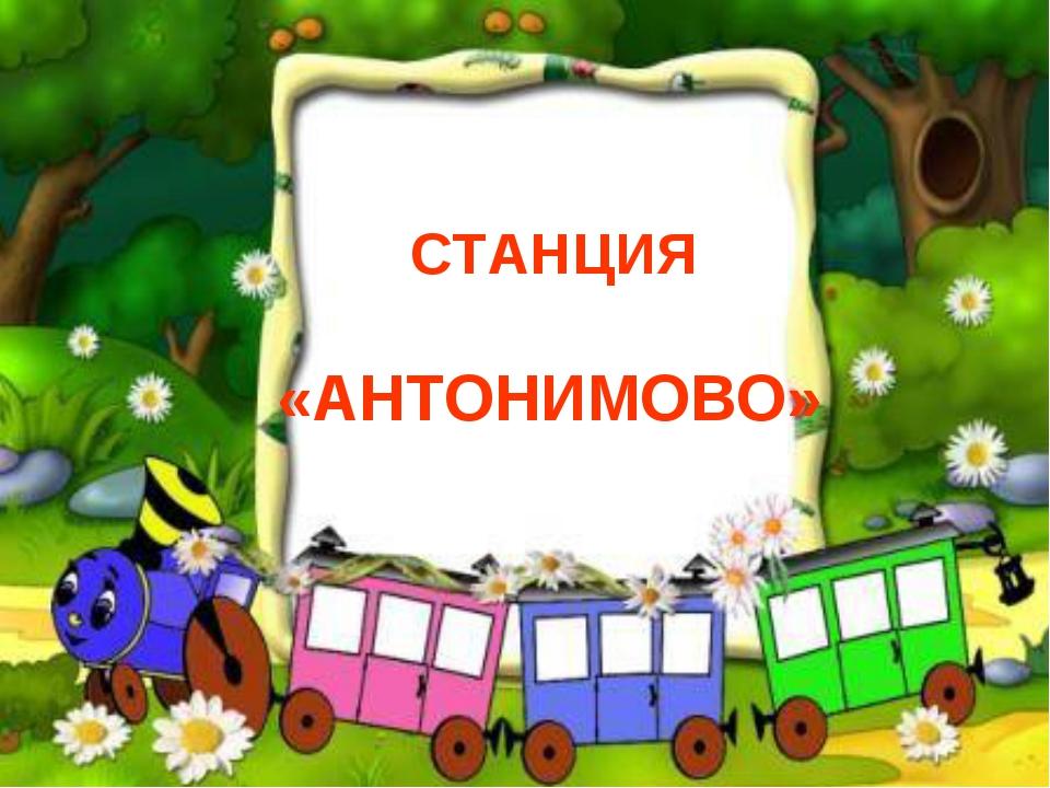 СТАНЦИЯ «АНТОНИМОВО»