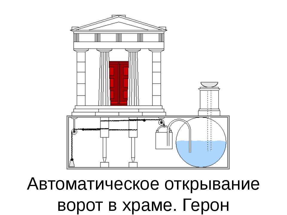 Автоматическое открывание ворот в храме. Герон
