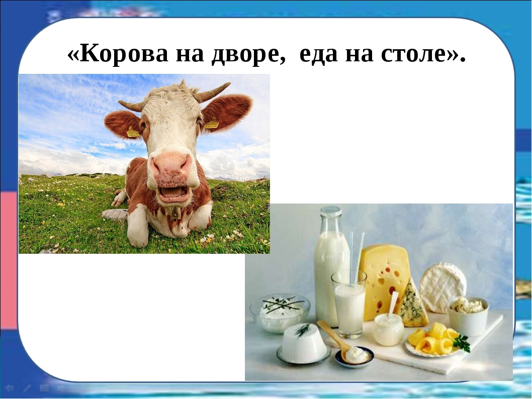 «Корова на дворе, еда на столе».