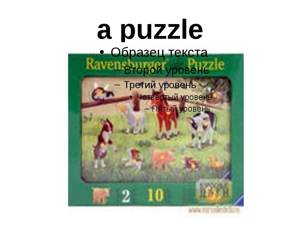 a puzzle
