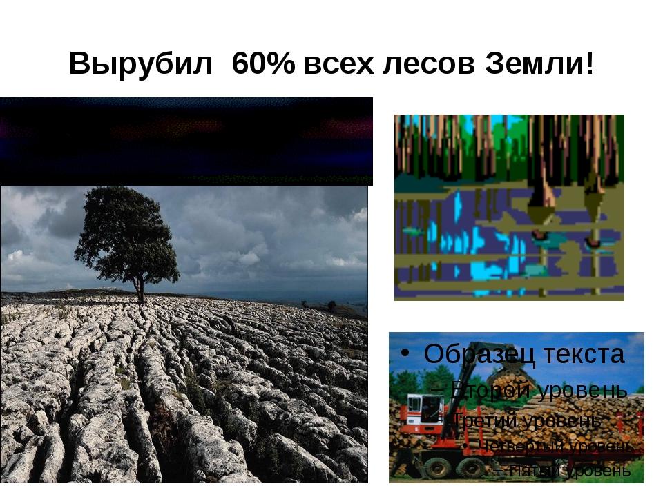 Вырубил 60% всех лесов Земли!