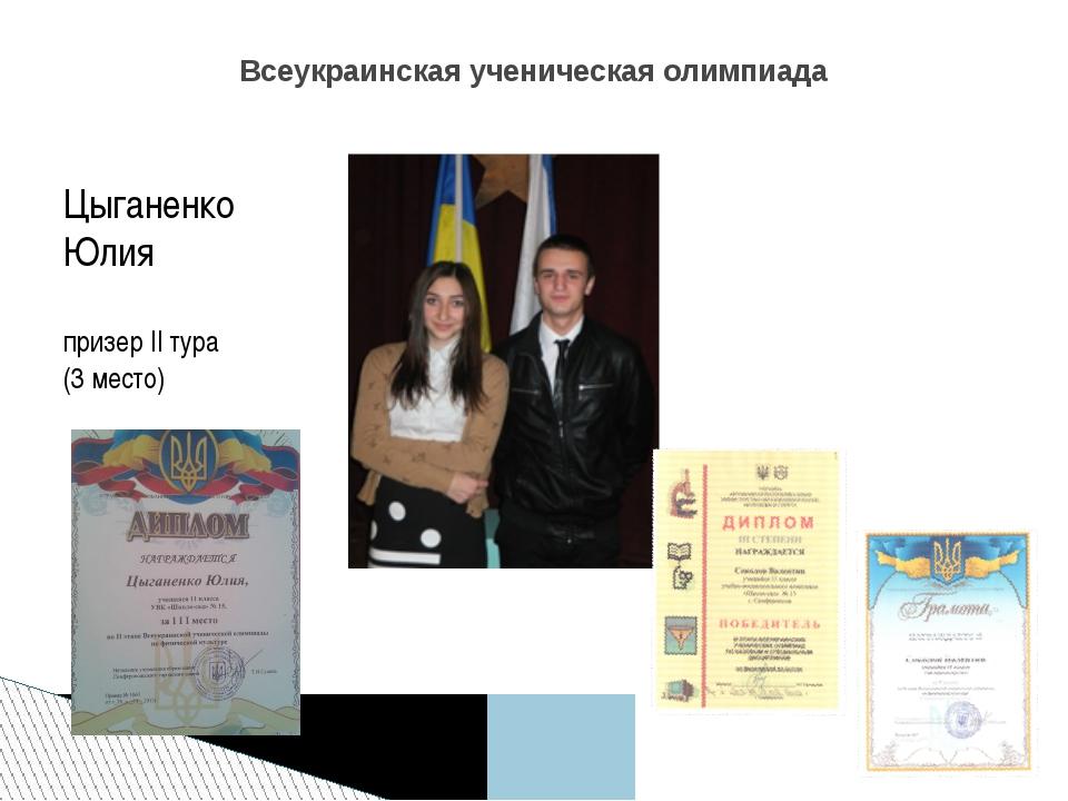 ЦыганенкоСоколов ЮлияВалентин победитель II тура, призер II ту...
