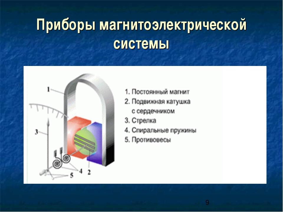 Приборы магнитоэлектрической системы