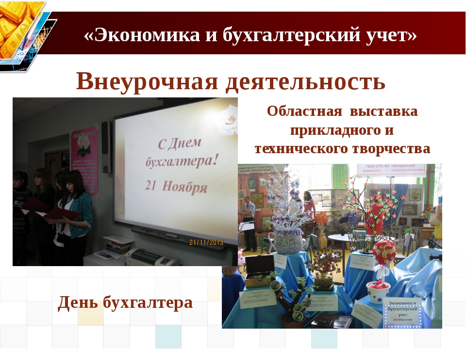 «Экономика и бухгалтерский учет» Внеурочная деятельность Областная выставка п...