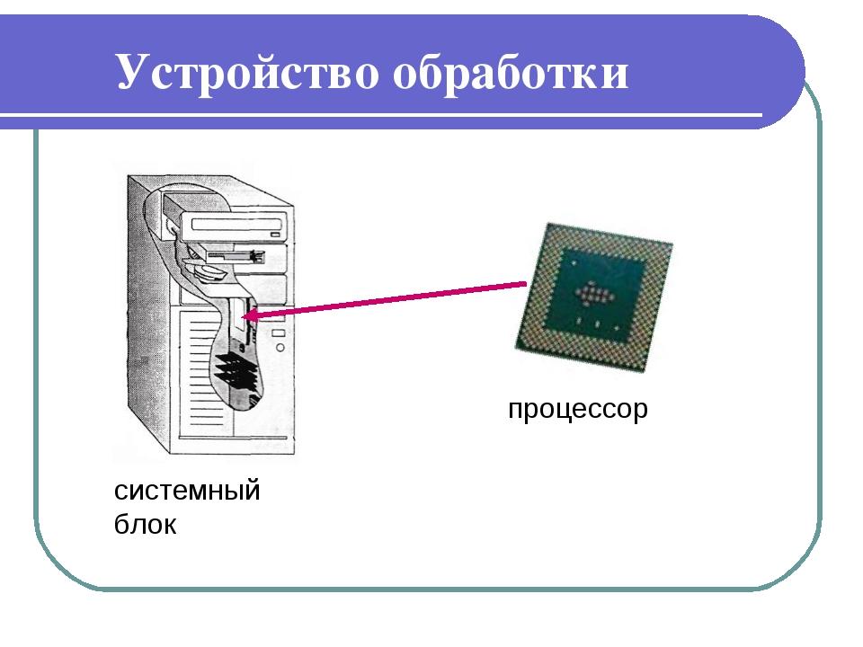 Устройство обработки системный блок процессор