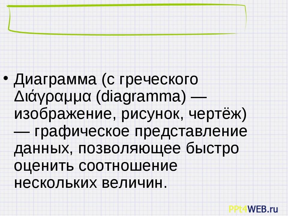 Диаграмма (с греческого Διάγραμμα(diagramma) — изображение, рисунок, чертёж...