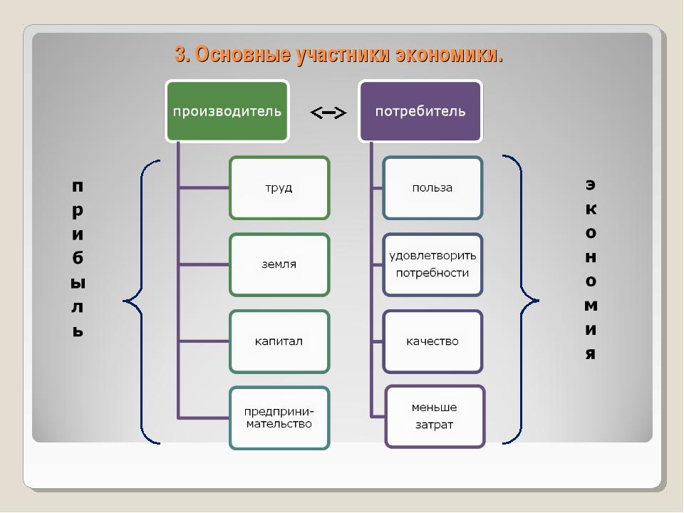 3. Основные участники экономики.