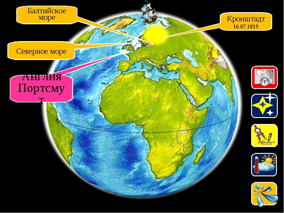 Балтийское море Северное море Англия Портсмут Кронштадт 16.07.1819